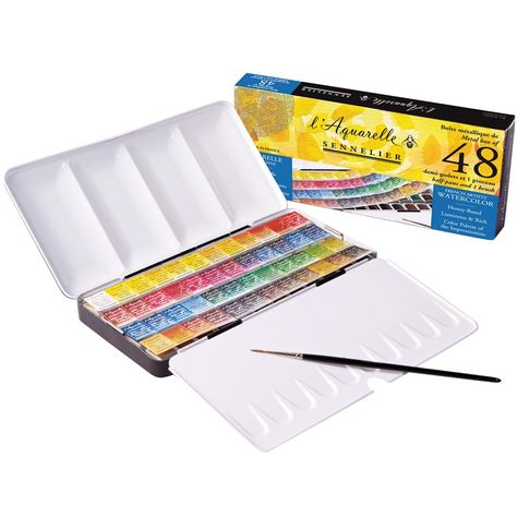 Sets Of Fine Honey Based Watercolors Perfect For Travel Sennelier