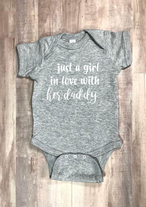 Just a Girl in Love With Her DaddyBaby Onesie, Pregnancy Announcement Gift