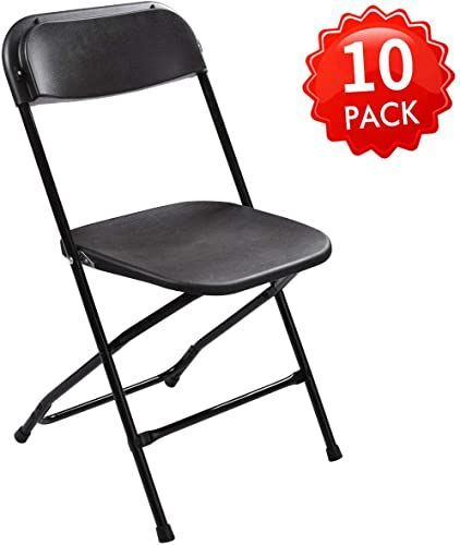 New Jaxsunny Black Plastic Folding Chair For Wedding Commercial Events Stackable Folding Chairs 440 Lb Capa In 2020 Plastic Folding Chairs Folding Chair Wedding Chairs