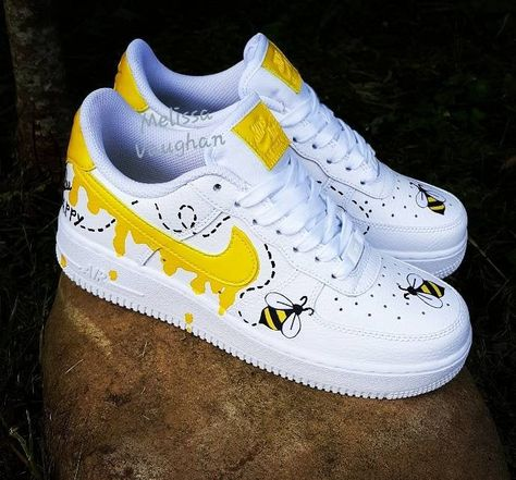 Excited to share the latest addition to my #etsy shop: Custom Honeybee Nike Air Force 1 #customsneakers #sneakers https://etsy.me/2Kfwyps
