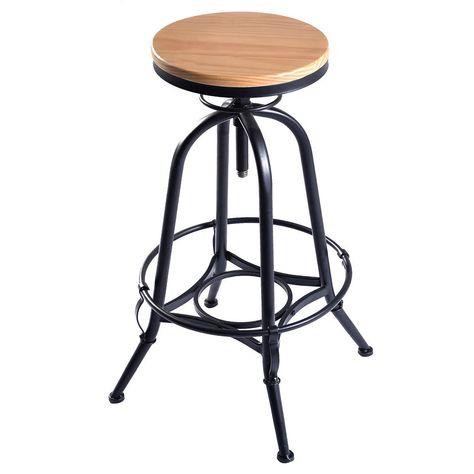 Super Adjustable Swivel Industrial Metal Design Vintage Bar Stool Frankydiablos Diy Chair Ideas Frankydiabloscom
