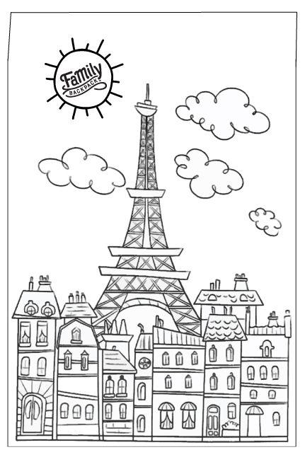 Downloadable Travel Postcards For Kids Paris Coloring Pages Coloring Books Cute Coloring Pages