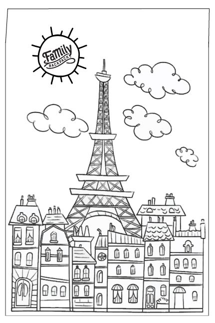 Downloadable Travel Postcards For Kids Coloring Books Coloring