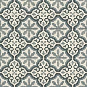 Carrelage Imitation Carreau Ciment Sol Et Mur Blue 20 X 20 Cm