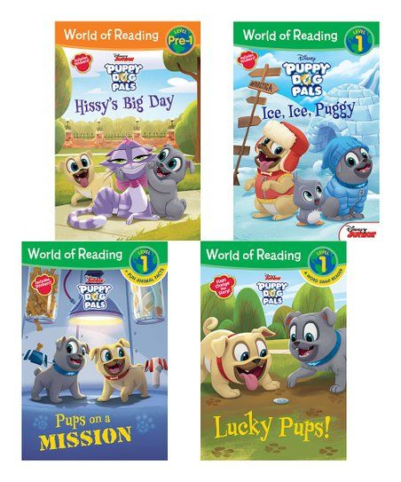 Disney Junior World Of Reading Puppy Dog Pals Level 1 Boxed Paperback Set Zulily Dogs And Puppies Puppies Disney Junior