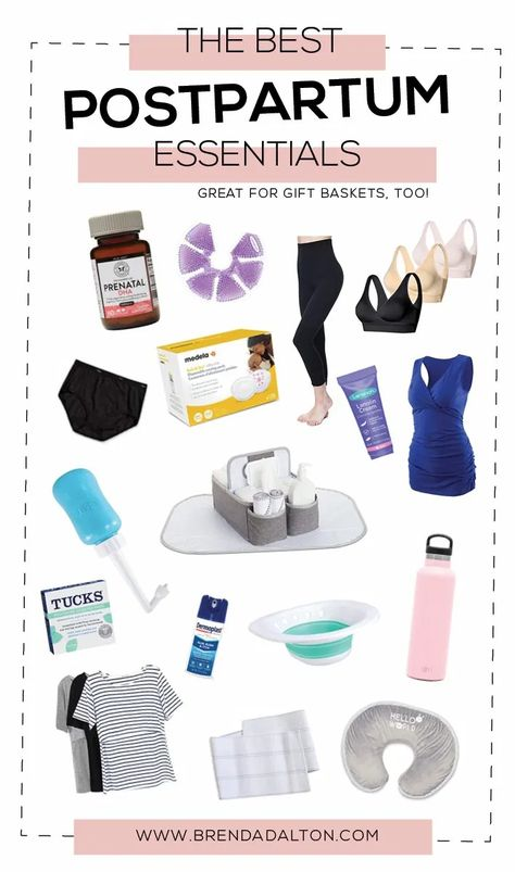 Postpartum Essentials for New Moms (Great Ideas for Gift Baskets!) • Tulsa Lifestyle Blogger | Brenda Dalton