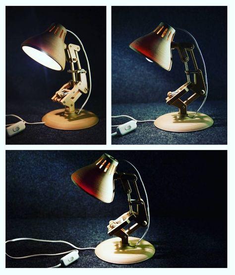 lampe pixar imprimée par greapz en PLA Bois 3Dprint  ...