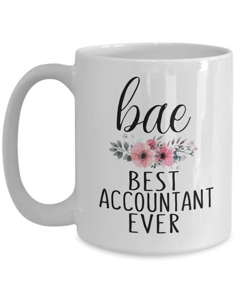 Bae Best Accountant Ever Gift Mug Gift for Accountant Woman Accountant Retirement Gift CPA Occupatio