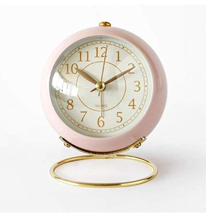 Justup Small Table Clocks Classic Non Ticking Tabletop Alarm