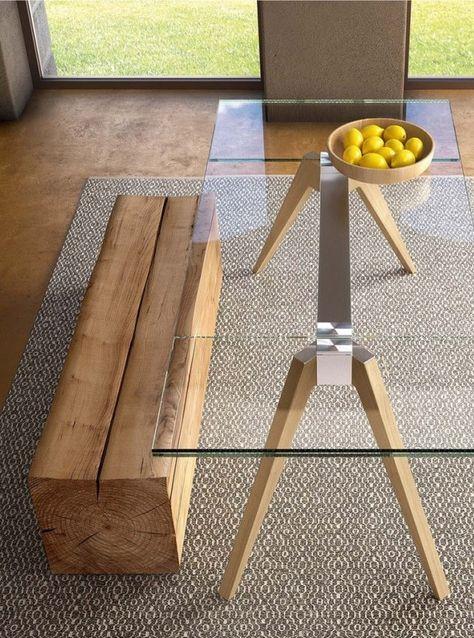 Tavolo Da Pranzo Allungabile Vetro.Tavolo Allungabile Rettangolare In Vetro Pianca Delta Tavolo