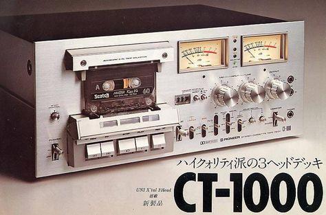 Pioneer CT1000 - www.remix-numerisation.fr - Rendez vos souvenirs durables ! - Sauvegarde - Transfert - Copie - Digitalisation - Restauration de bande magnétique Audio - MiniDisc - Cassette Audio et Cassette VHS - VHSC - SVHSC - Video8 - Hi8 - Digital8 - MiniDv - Laserdisc - Bobine fil d'acier