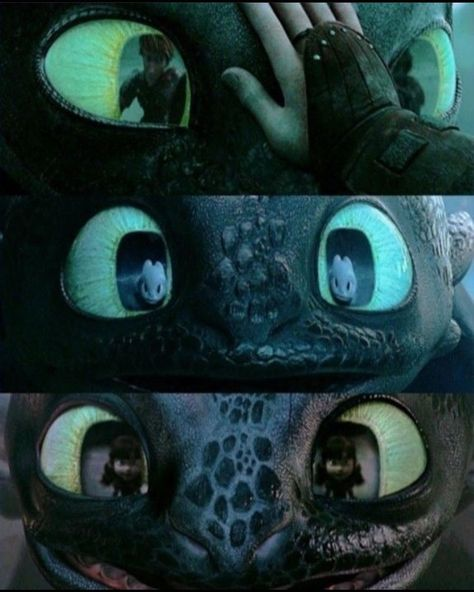 "𝕋𝕠𝕠𝕥𝕙𝕝𝕖𝕤𝕤 | 10.1k💓 on Instagram: ""Love the reflections in his eyes 😭  Credit @dartthenightlight"" Toothless And Stitch, Toothless Dragon, Hiccup And Toothless, Hiccup And Astrid, How To Train Dragon, How To Train Your, Croque Mou, Night Fury Dragon, Memes Marvel"
