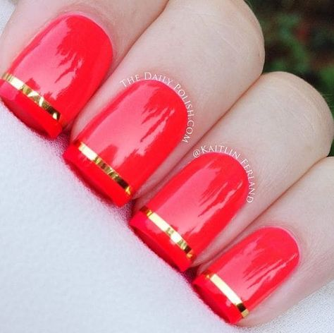 Easy Striped nail designs with Nail polish stripes