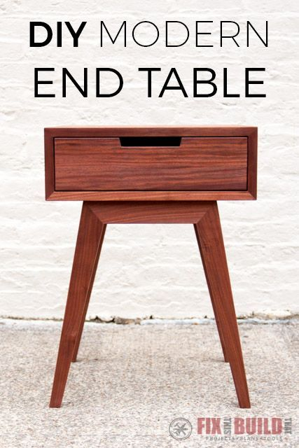 Modern Diy End Table Side Table Timeless Design Diy End Tables