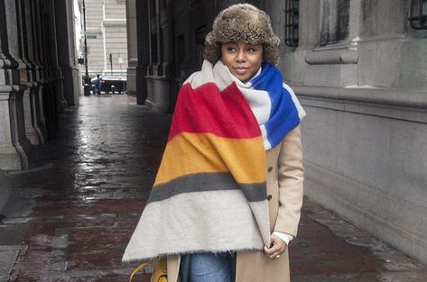 how to wear the blanket scarf trend  Kéla's Kloset