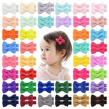 Small Diy 40 Colors Hairpins Ribbon Bow Hair Clips For Girl Children Hair Pins Baby Kids Hairpin Headwear Hair In 2020 Bow Hair Clips Kids Hairstyles Ribbon Hair Bows