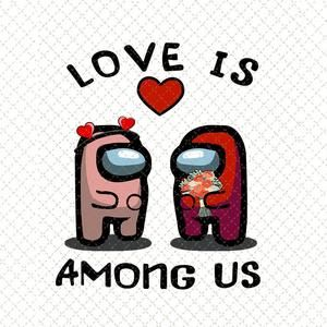 Two Among Us Love Valentine S Day Shirt Apple Among Us Etsy In 2021 Love Valentines Valentines Day Shirts Valentines