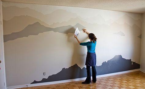 makeover decorazione murales camera da letto   Decorazioni ...