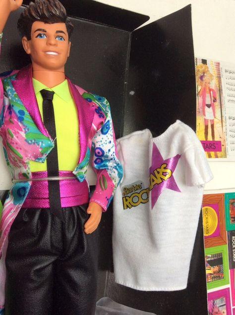 on feet images of cheap new list Vintage Barbie Rockers Rock Stars Derek Doll Mattel Boxed ...