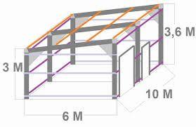 Plan Hangar Bois Monopente
