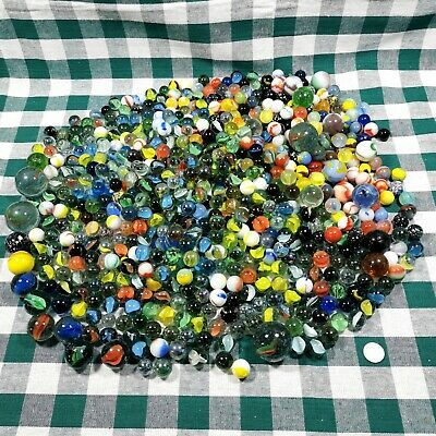 Vintage Mixed Glass Marbles Lot Over 9 Lbs With Shooters And Various Sizes In 2020 Glass Marbles Marble Glass