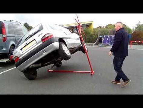 Diy Mobile Hebebuhne Kipplift Pkw Vehicle Hoist Car Lifter Avtomobilnyj Podyomnik Youtube Autos Fahrzeuge Coole Erfindungen