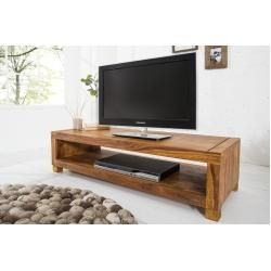 Massives Design Tv Board Madeira 110cm Sheesham Couchtisch Riess