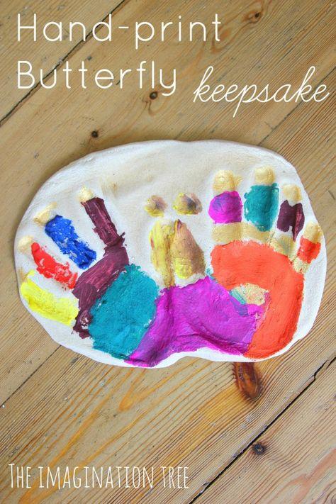 How to make a handprint butterfly craft from salt dough