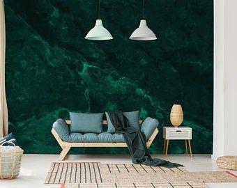 Dark Teal Texture Wallpaper Self Adhesive Peel And Stick Etsy Abstract Wallpaper Dark Teal Textured Wallpaper Green Painted Walls