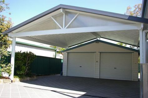 Pitched roof carport adding onto the single garage #carport For