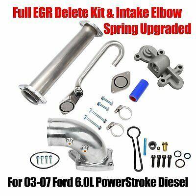 Sponsored Ebay Full Egr Delete Kit Silver Intake Elbow Spring Upgraded For 03 07 Ford 6 0l Powerstroke Ford Ebay