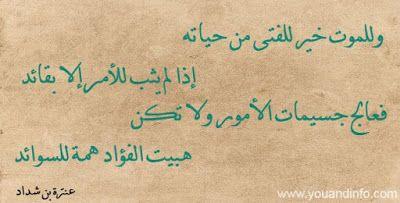 أبيات شعر قصيرة عن الفتى Poetry Arabic Calligraphy