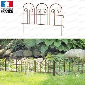 Bordure Metal A Arceaux En Acier Peint L 60cm X H 47 5cm Bordure Jardin Bordure Metal Arche Jardin