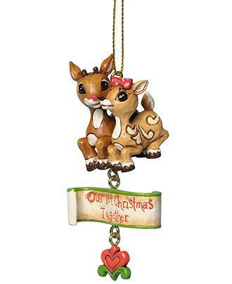 Jim Shore Christmas Ornament, Rudolph & Clarice 1st Christmas ...