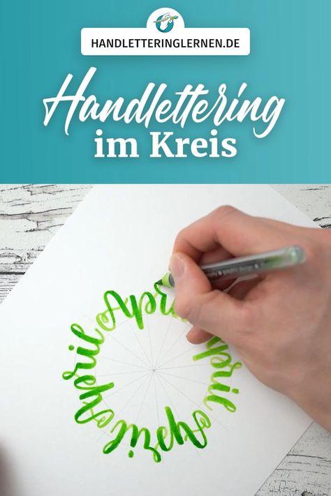 Im Kreis zu schreiben ist definitiv nicht leicht. Freihand schon gar nicht. Doch mit der richtigen Vorarbeit könnt ihr viel einfacher runde Letterings erstellen. In diesem Video zeige ich euch ganz genau, wie das gelingt. Schritt für Schritt erstellen wir so ein Handlettering im Kreis. Die Technik lässt sich auch super auf andere, rundliche Formen adaptieren. #handlettering #lettering #brushlettering #kreis #rund #calligraphy #kalligrafie #typografie