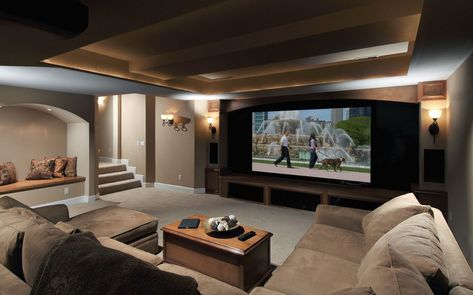 Basement Home Theater Remodel This is an amazing home theater projector! http://amzn.to/2vXBkAl