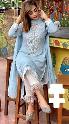 Indian kurta dress With Pent Dupatta Tunic Set blouse Combo Ethnic Bottom - Designer Dresses Couture