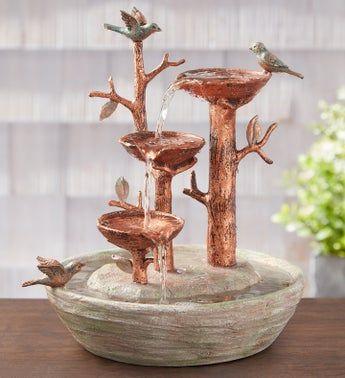 Bird Nest Water Fountain Water Fountain Fountain Bird Fountain