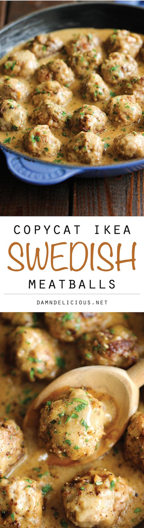 Swedish Meatballs - Nothing beats homemade meatballs smothered in a creamy gravy sauce, and they taste much better than the IKEA version!