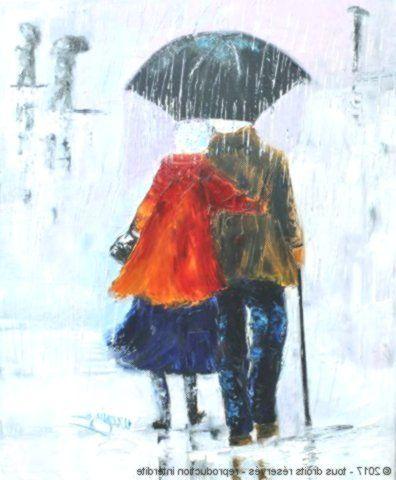 Chantal Urquiza - Ensemble sous la pluie - #chantal #ensemble #la #pluie #sous #urquiza