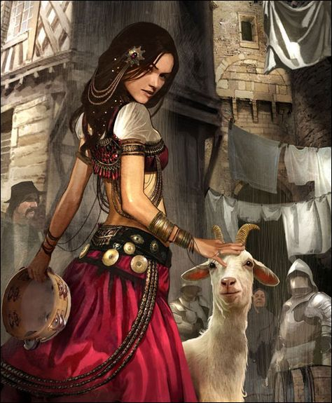 Not sure who the girl is yet, but there is The Goat, hero of Tramilar.