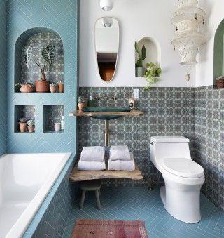 Bohemian Blue Bathroom Kohler Ideas Blue Bathroom Bathroom Design Boho Bathroom