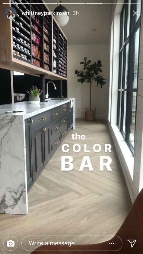 love the mix of materials to create the look of this colour bar