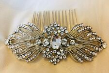 VICTORIA Hair Comb Great Gatsby Bridal Comb Rhinestone Crystal Vintage Art Deco