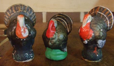 early 1900's Turkey candy containers