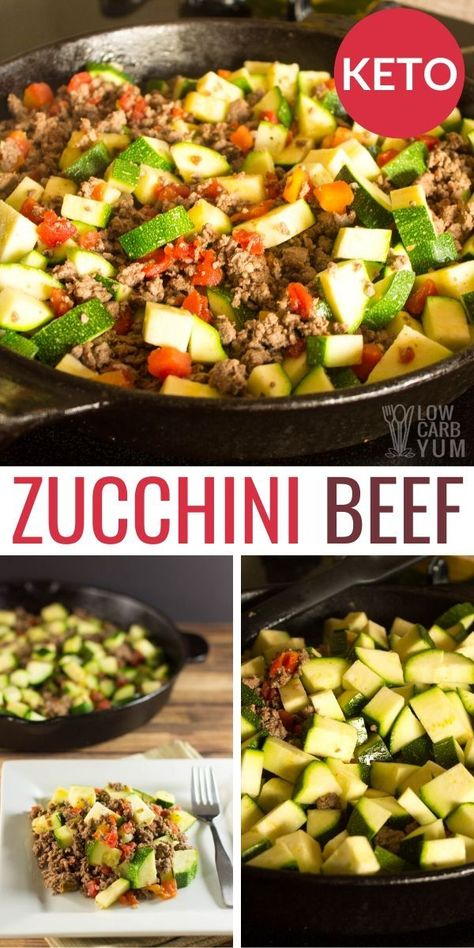 This Mexican Zucchini Beef Skillet is sure to become one of your favorite keto one pot meals! This easy low carb ground beef recipe is a simple ketogenic dinner idea. keto dinner Mexican Zucchini and Beef Skillet Ketogenic Recipes, Diet Recipes, Healthy Recipes, No Carb Dinner Recipes, Ketogenic Diet, Breakfast Recipes, Low Carb Dinner Ideas, Low Cholesterol Recipes Dinner, Dessert Recipes