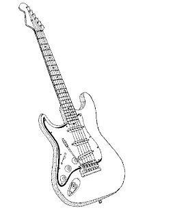 Desenhos Para Colorir E Pintar Instrumentos Musicais Guitarra