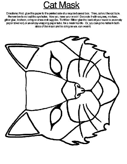 Cat Mask Coloring Page Crayola Com Cat Coloring Page Coloring