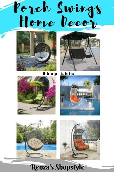 Relaxing Porch Swings Home Decor Ad Homedecor Homedecorideas