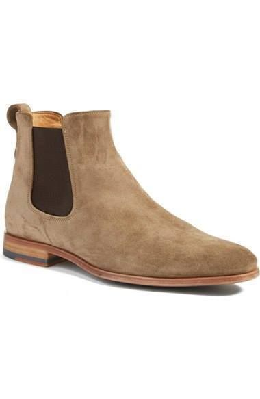 Cowhide Suede Slip-On PeppeShoes Modello Lethero Handmade Italian Mens Color Brown Ankle Chelsea Boots